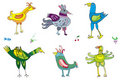 Colorful cute birds 2 Royalty Free Stock Photography