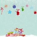 Colorful cute christmas greeting card Stock Image
