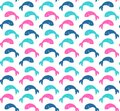 Colorful cute fish pattern simple graphic seamless vector Royalty Free Stock Photo