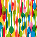 Colorful cutlery illustration dishware elements background this vector is layered for easy manipulation and custom coloring Royalty Free Stock Image