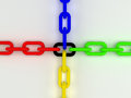 Colorful d chain computer render Stock Photos