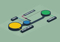 Colorful 3d isometric metaball round infographics