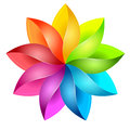 Colorful 3D pinwheel Royalty Free Stock Photo