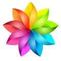 Colorful 3D pinwheel