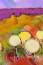 Colorful dandelions oil painting of Stock Images
