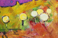 Colorful dandelions oil painting of Royalty Free Stock Photography