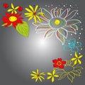 Colorful decorative background Stock Image