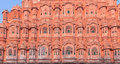 Colorful decorative palace winds jaipur india Stock Images
