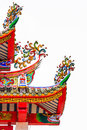 Colorful decoratived roof of chinese pavilion temple Stock Photography
