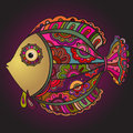 Colorful decorativel fish Royalty Free Stock Photo