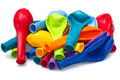Colorful deflated balloons Stock Photography
