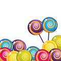 Colorful delicious lollipop collection Royalty Free Stock Photo