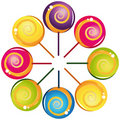 Colorful delicious lollipop collection Royalty Free Stock Photography