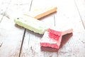 Colorful delicious nougat from malta sweet Royalty Free Stock Photo