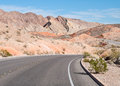 Colorful desert road lake mead nevada northshore national recreation area Stock Photos