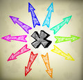 Colorful Design with arrows Stock Photos