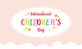 Colorful design for childrens day card