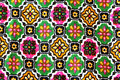 Colorful design of pattern on fabric for background Royalty Free Stock Photography