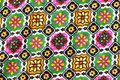 Colorful design of pattern on fabric for background Royalty Free Stock Images