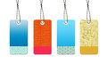 Colorful design sale tags Stock Image