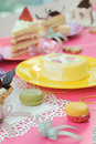 Colorful dessert party with many cakes Royalty Free Stock Photos