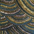 Colorful diamonte diamond beaded pattern close up Royalty Free Stock Photo