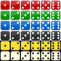 Colorful Dice Set Stock Photography