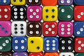 Colorful dices Royalty Free Stock Images