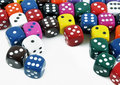 Colorful dices Royalty Free Stock Photography