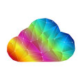 Colorful digital clouding cloud with line connection Stock Photography