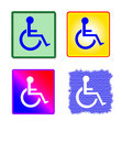 Colorful Disabled Sign Collection Stock Photo