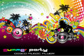 Colorful Discoteque Flyer Stock Photo