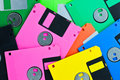 Colorful Diskettes Royalty Free Stock Photo