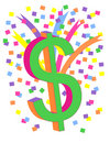 Colorful Dollar Sign Stock Images
