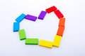 Colorful Domino Blocks Form A ...
