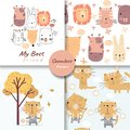 Colorful doodle animals seamless pattern, for fabrics, textiles, children`s wear, wrapping paper