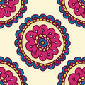 Colorful Doodle Flower Pattern...