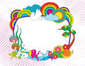Colorful doodle frame Stock Photos