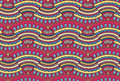 Colorful doodle ornament Background. Bright seamless abstract pizza pattern. Royalty Free Stock Photo