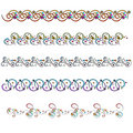 Colorful doodle ornament trims Royalty Free Stock Photography