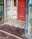 Colorful doorway virginia city nevada Royalty Free Stock Images