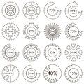 Colorful download icons set, outline style