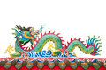 The colorful dragon made from ceramic tail Royalty Free Stock Images