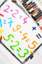 Colorful drawing: math operations Royalty Free Stock Photo