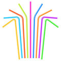 Colorful drinking straws Stock Images