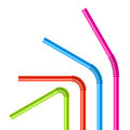 Colorful drinking straws set of illustration Stock Photo