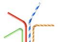 Colorful drinking straws set Royalty Free Stock Photo