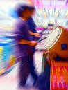 Colorful Drummers Royalty Free Stock Photo