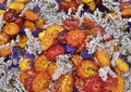 Colorful dry flowers full frame background of a bouquet of Stock Photography