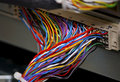 Colorful DSL telephony wires Stock Images